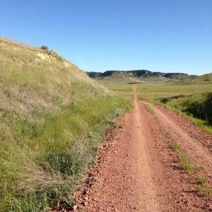 The road toward the Cave Hills portion of Custer National Forest